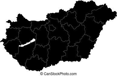 ουγγαρία , μαύρο , χάρτηs