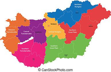 ουγγαρία , χάρτηs