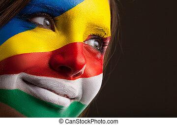 ουκρανικός , απεικονίζω , αυτό , ζεσεεδ , σημαίες , art., ιταλίδα
