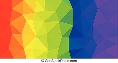 ουράνιο τόξο , κλίση , poly, σημαία , μικροβιοφορέας , πλοκή , χαμηλός
