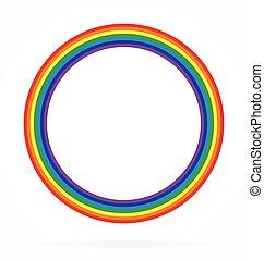 ουράνιο τόξο , κλασικός , δακτυλίδι , απλό , στοιχείο , μικροβιοφορέας