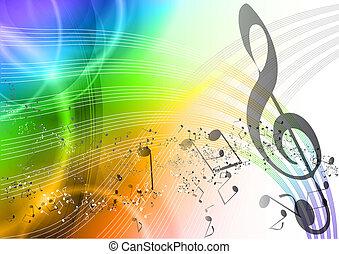 ουράνιο τόξο , μουσική