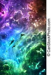 ουράνιο τόξο , περιβάλλω , έγχρωμος , αστέρας του κινηματογράφου , nebulae
