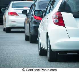 ουρά , αυτοκίνητο , κακός , κυκλοφορία , δρόμοs
