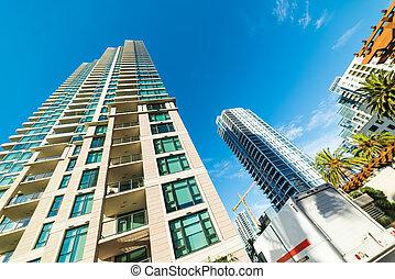 ουρανοξύστης , μέσα , στην πόλη san diego
