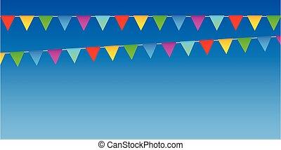 ουρανόχρους , φόντο , αναγνωρισμένο πολιτικό κόμμα εποχή , γραφικός , σημαία , καλοκαίρι
