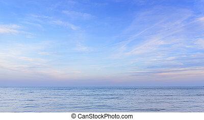 ουρανόs , ηλιοβασίλεμα , θάλασσα , φόντο.