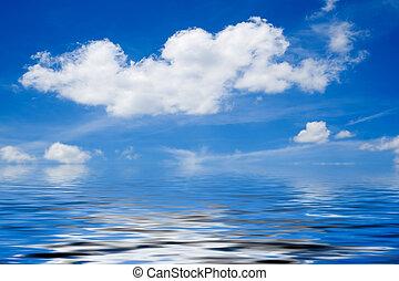 ουρανόs , πάνω , θαμπάδα , θάλασσα