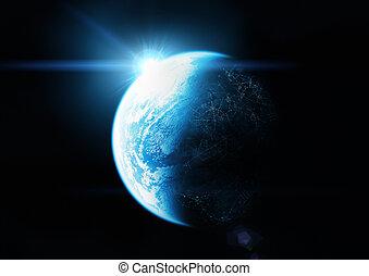 ο , γαλάζιο πλανήτης