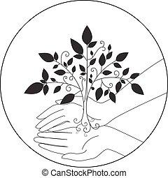 ο ενσαρκώμενος λόγος του θεού , μικροβιοφορέας , δέντρο , έμβλημα , εικόνα