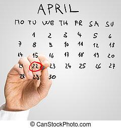 ο , ημερομηνία , από , απρίλιος , 22 , διεθνής , γαία εικοσιτετράωρο