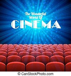 ο , θαυμάσιος , κόσμοs , από , κινηματογράφοs