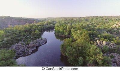ο , νότιος , έντομο , river., γραφικός , βράχος , και ,...