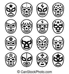 πάλη , μεξικάνικος , αποκρύπτω , lucha, libre