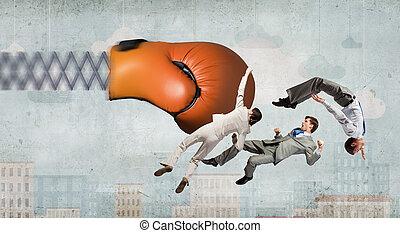 πάλη , businesspeople , μάχη , γάντι