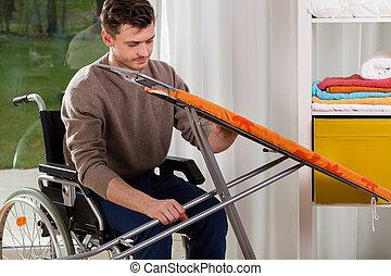 πάνω , ανάπηρος , δύση , πίνακας , σίδερο , άντραs