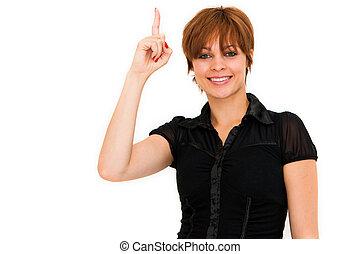 πάνω , γυναίκα , αυτήν , δάκτυλο
