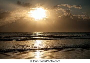 πάνω , ηλιοβασίλεμα , θάλασσα