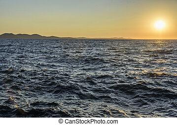 πάνω , ηλιοβασίλεμα , sea.