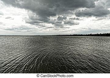 πάνω , λίμνη , καταιγίδα