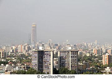 πάνω , μίγμα καπνού και ομίχλης , χιλή , santiago , de