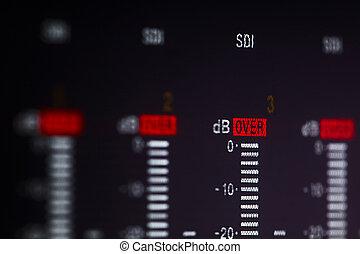 πάνω , signal., παραγγελία , βίντεο , επαγγελματικός , μαγνητόφωνο , εκθέτω