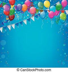 πάρτυ, γενέθλια, μπαλόνι, ευτυχισμένος
