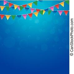 πάρτυ, γενέθλια, τρίγωνο, ευτυχισμένος
