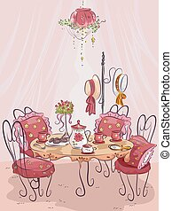 πάρτυ , δύση , αγάπη , τραπέζι