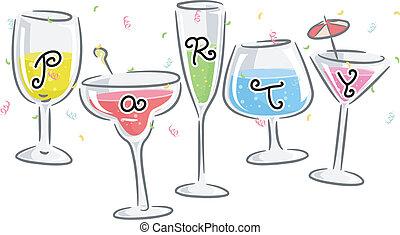πάρτυ , πίνω