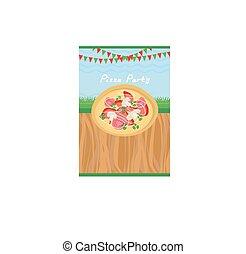 πάρτυ , πίτα με τομάτες και τυρί , αφίσα
