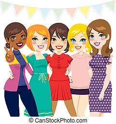 πάρτυ , φίλοι , γυναίκεs