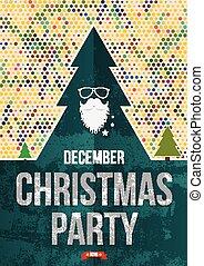 πάρτυ , poster., xριστούγεννα