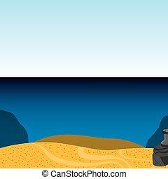 πάτος της θάλασσας , απομονωμένος , τοπίο , εικόνα