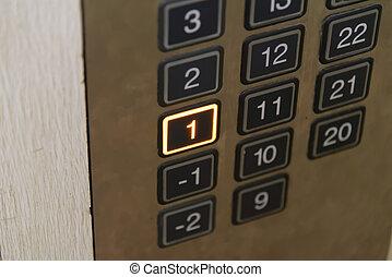 πάτωμα , κουμπί ανακριτού , ανελκυστήρας , πρώτα , lighten, κατάλογος ένορκων