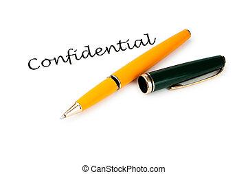 πένα , μήνυμα , άσπρο , εμπιστευτικός