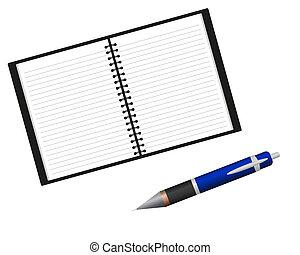 πένα , σημειωματάριο