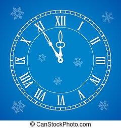 πέντε , γιορτή , μεσάνυκτα , εικόνα , πρακτικά , ρολόι