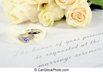 πέταλο άνθους , γαμήλια τελετή δακτυλίδι , τριαντάφυλλο