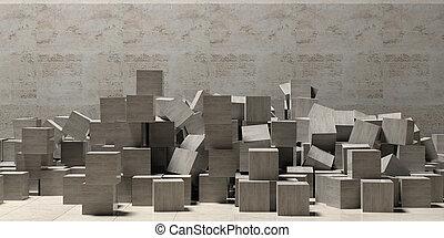πέτρα , ανάγω αριθμό στον κύβο , πάτωμα , τοίχοs , space.,...
