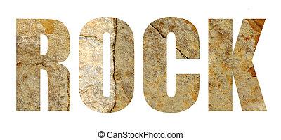 πέτρα , γράμματα , 'rock', βράχοs , λέξη , άσπρο