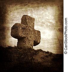 πέτρα , γριά , σταυρός