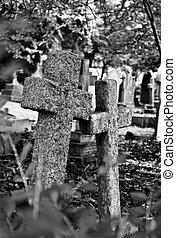 πέτρα , 2 , σταυρός , επιτύμβια πλάκα