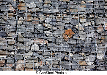 πέτρα , gabion, τοίχοs