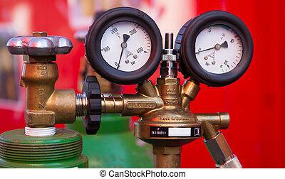 πίεση , αέριο , δυο , δείκτης