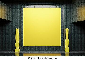 πίνακας , κίτρινο