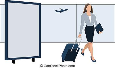 πίνακαs ανακοινώσεων , αεροδρόμιο
