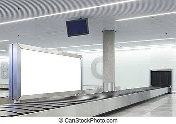 πίνακαs ανακοινώσεων , αφίσα , αεροδρόμιο , ή , κενό