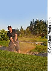 παίζων γκολφ , απόκομμα