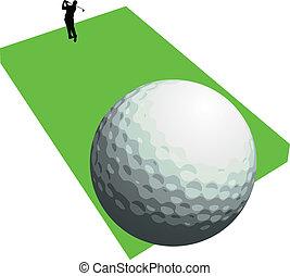 παίζων γκολφ , μικροβιοφορέας , κυνήγι , δυο